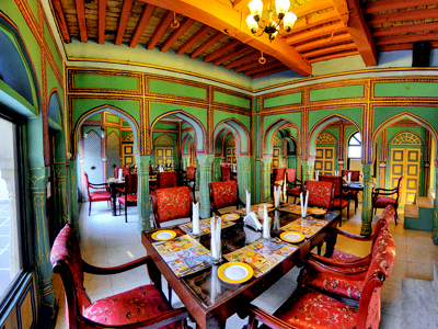 Dining Hall at Raja Mahal